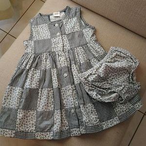 Baby Gap patchwork dress. 12-18m